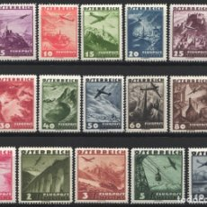 Sellos: AUSTRIA, AEREO 1935 YVERT Nº 32 / 41 /*/,. Lote 178968942