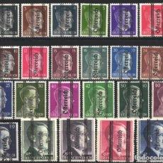 Sellos: AUSTRIA, 1945 YVERT Nº 553 / 578 /*/, ADOLF HITLER. Lote 178969167