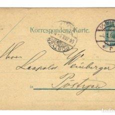 Sellos: AUSTRIA ENTERO POSTAL CORRESPONDENZ KART TARJETA 5 KR MICHEL 74 - CIRC 1897 -MATASELLOS VIENA WIEN. Lote 179217880