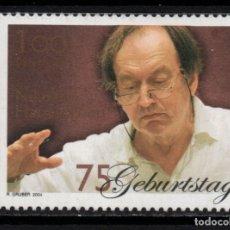 Sellos: AUSTRIA 2338** - AÑO 2004 - MUSICA - 75º ANIVERSARIO DEL MUSICO NIKOLAUS HARNONCOURT. Lote 180113898