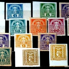 Sellos: SELLOS AUSTRIA- FOTO 996 - Nº 39 T, IVERT, NUEVO, 16 VALORES. Lote 182388895