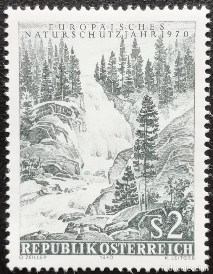 1970. AUSTRIA. 1154. AÑO EUROPEO DE LA NATURALEZA. CASCADA KIMMLER-SALZBURGO. SERIE COMPLETA. NUEVO. (Sellos - Extranjero - Europa - Austria)