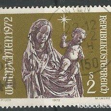 Sellos: AUSTRIA - SELLO DE NAVIDAD 1972 - 2 SCHILLING - USADO . Lote 182522990