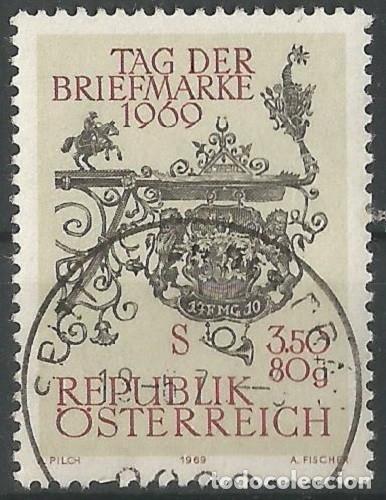 AUSTRIA - DÍA DE LOS SELLOS 1969 - USADO (Sellos - Extranjero - Europa - Austria)
