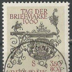 Sellos: AUSTRIA - DÍA DE LOS SELLOS 1969 - USADO . Lote 182523950