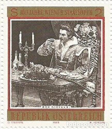 Sellos: AUSTRIA - 100 ANIV. DE LA ÓPERA DEL ESTADO DE VIENA - SIN USAR - FALTA EL BORDE IZQ. LATERAL Y ABAJO - Foto 3 - 182768535