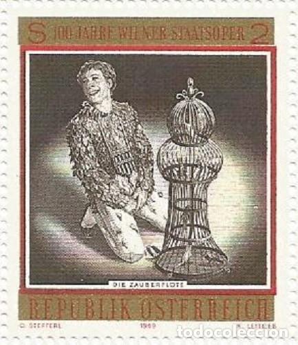 Sellos: AUSTRIA - 100 ANIV. DE LA ÓPERA DEL ESTADO DE VIENA - SIN USAR - FALTA EL BORDE IZQ. LATERAL Y ABAJO - Foto 4 - 182768535