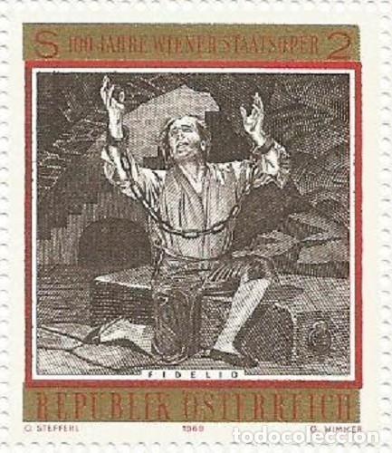 Sellos: AUSTRIA - 100 ANIV. DE LA ÓPERA DEL ESTADO DE VIENA - SIN USAR - FALTA EL BORDE IZQ. LATERAL Y ABAJO - Foto 9 - 182768535