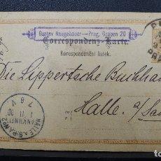 Sellos: ENTERO POSTAL DE AUSTRIA CIRCULADA AÑO 1890. Lote 183200618
