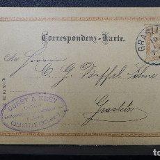 Sellos: ENTERO POSTAL DE AUSTRIA CIRCULADO AÑO 1896. Lote 183205160