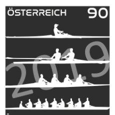 Sellos: AUSTRIA 2019 - ROWING WORLD CHAMPIONSHIPS IN LINZ-OTTENSHEIM BLACK PROOF MNH. Lote 183313666