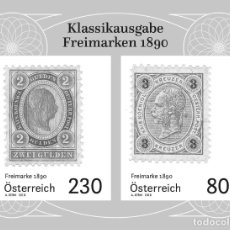 Sellos: AUSTRIA 2019 - FREIMARKEN 1890 BLACK PROOF MNH. Lote 183314926