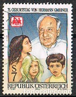 AUSTRIA Nº 2168, HERMANN GMEINER, FUNDADOR DE LAS ALDEAS INFANTILES SOS, USADO (Sellos - Extranjero - Europa - Austria)