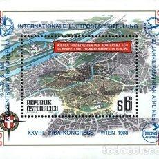 Sellos: AUSTRIA 1986 - CONFERENCIA DE SEGURIDAD Y COOPERACION EN EUROPA - YVERT BLOCK Nº 13**. Lote 221864308