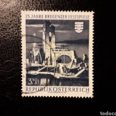 Sellos: AUSTRIA YVERT 1164 SERIE COMPLETA USADA. FESTIVAL DE MÚSICA DE BERGENZ.. Lote 187133731