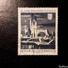 Sellos: AUSTRIA YVERT 1164 SERIE COMPLETA USADA. FESTIVAL DE MÚSICA DE BERGENZ.. Lote 187133733