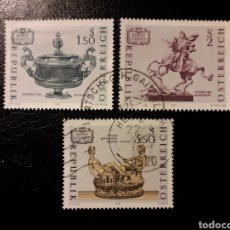 Sellos: AUSTRIA YVERT 1184/6 SERIE COMPLETA USADA. TESOROS ARTÍSTICOS.. Lote 187139623