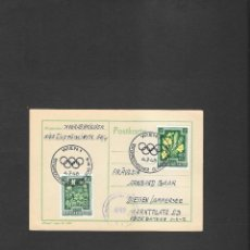 Sellos: OLIMPIADA LONDRES 1948 TARJETA CIRCULADA MATASELLO OLIMPICO DE AUSTRIA, Y CENSURADA. Lote 190807866