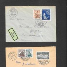 Sellos: AUSTRIA SOBRES CHRISTKINDELL TRES DIFERENTES AÑOS 1954-1957-1962 CIRCULADOS. Lote 190922513