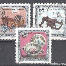 Sellos: AUSTRIA Nº 1944/1946º USOS Y COSTUMBRES POPULARES SERIE IV. SERIE COMPLETA. Lote 191036182