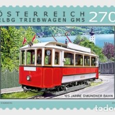Sellos: AUSTRIA 2019 - 125 YEARS OF THE GMUNDEN TRAMWAY MNH. Lote 191127400