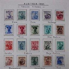 Sellos: LOTE 22 SELLOS USADOS REPÚBLICA DE AUSTRIA 1948. TRAJES REGIONALES. Lote 192487828