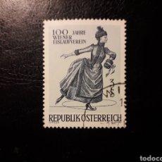 Timbres: AUSTRIA YVERT 1066 SERIE COMPLETA USADA. SOCIEDAD DE PATINAJE SOBRE HIELO DE VIENA.. Lote 193042791