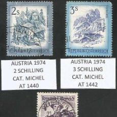 Sellos: AUSTRIA VARIOS AÑOS - LOTE 3 SELLOS USADOS. Lote 193165072