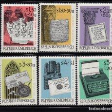 Sellos: AUSTRIA 1020/25** - AÑO 1965 - EXPOSICION FILATELICA INTERNACIONAL DE VIENA. Lote 226166477