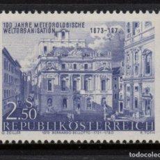 Sellos: AUSTRIA 1252** - AÑO 1973 - CENTENARIO DE LA ORGANIZACION METEOROLOGICA INTERNACIONAL. Lote 226166630