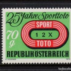 Sellos: AUSTRIA 1299** - AÑO 1974 - 25º ANIVERSARIO DEL JUEGO SPOT TOTO. Lote 226166715