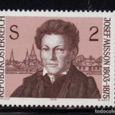 Sellos: AUSTRIA 1318** - AÑO 1975 - CENTENARIO DE LA MUERTE DEL POETA JOSEF MISSON. Lote 226166750