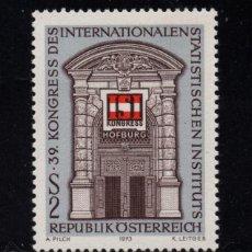 Sellos: AUSTRIA 1249** - AÑO 1973 - CONGRESO DEL INSTITUTO INTERNACIONAL DE ESTADISTICA. Lote 226166912