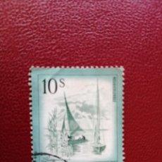 Selos: AUSTRIA - VALOR FACIAL 10 S - AÑO 1973 - PAISAJES: LAGO - NEUSIEDLERSEE - YV 1262 - MI 1433. Lote 198070995