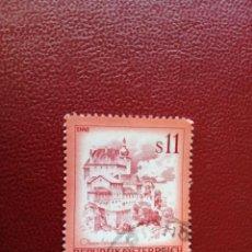 Selos: AUSTRIA - VALOR FACIAL 11 S - PAISAJES: ENNS - AÑO 1976 - YV 1349. Lote 198071131