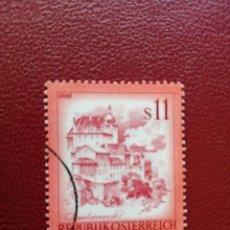 Selos: AUSTRIA - VALOR FACIAL 11 S - PAISAJES: ENNS - AÑO 1976 - YV 1349. Lote 198071150