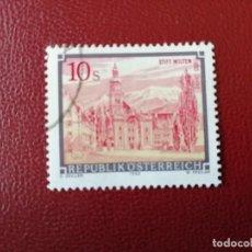 Selos: AUSTRIA - VALOR FACIAL 10 S - AÑO 1988 - ABADIA DE WILTEN - YV 1744. Lote 198165636