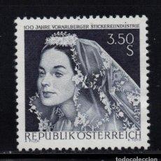 Sellos: AUSTRIA 1094** - AÑO 1968 - CENTENARIO DE LA INDUSTRIA DE BORDADOS DE VORALBERG. Lote 198814961