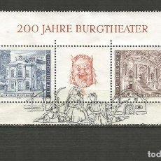 Sellos: AUSTRIA HOJA BLOQUE YVERT NUM. 8 USADA. Lote 198945655
