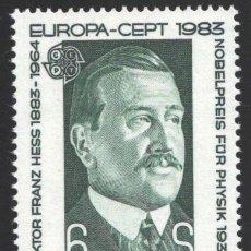 Sellos: AUSTRIA, 1983 YVERT Nº 1572 /**/, EUROPA (CEPT), PREMIO NOBEL, VICTOR FRANZ HESS, FÍSICO . Lote 199224785