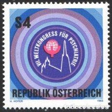 Sellos: AUSTRIA, 1983 YVERT Nº 1574 /**/, VII CONGRESO MUNDIAL DE PSIQUIATRÍA, VIENA. Lote 199224927