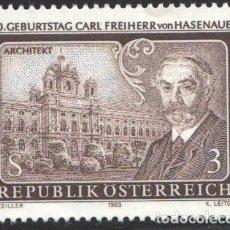 Sellos: AUSTRIA, 1983 YVERT Nº 1575 /**/, 150 ANIVERSARIO DEL NACIMIENTO DE CARL VON HASENAUER. Lote 199225060