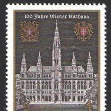 Sellos: AUSTRIA, 1983 YVERT Nº 1581 /**/, CENTENARIO DEL AYUNTAMIENTO DE VIENA. Lote 199234370