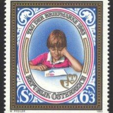 Sellos: AUSTRIA, 1983 YVERT Nº 1585 /**/, NIÑO MIRANDO EL SOBRE. Lote 199235278