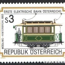 Sellos: AUSTRIA, 1983 YVERT Nº 1586 /**/, CENTENARIO DEL 1ER FERROCARRIL ELÉCTRICO DE AUSTRIA. Lote 199235381