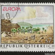Sellos: AUSTRIA, EUROPA Y LOS DESCUBRIMIENTOS 1994, USADO (FOTOGRAFÍA REAL). Lote 203328025
