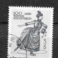 Sellos: AUSTRIA, 1967,CENTENARIO DE LA SOCIEDAD VIENESA DE PATINAJE SOBRE HIELO,YVERT 1066,USADO. Lote 294580823