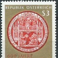Sellos: 1965. AUSTRIA. YVERT 1017**MNH. 600 AÑOS UNIVERSIDAD DE VIENA. VIENNA UNIVERSITY.. Lote 207140695