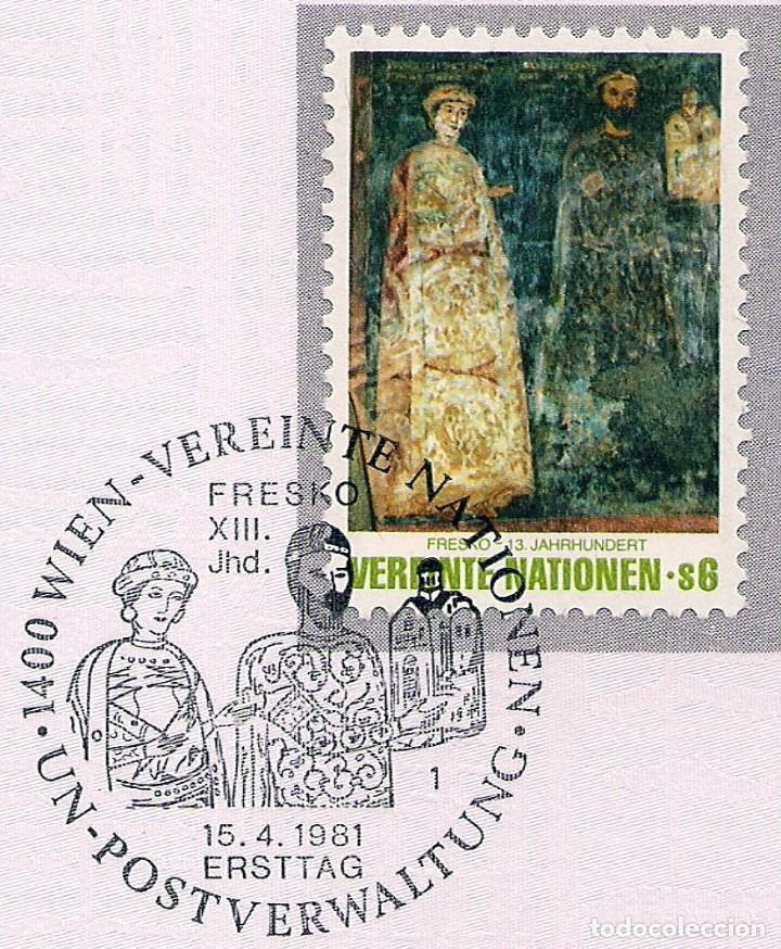 Sellos: AUSTRIA - PÁGINA DE LAS NACIONES UNIDAS VIENA CON SELLO SOLO Y DOS BLOQUES DE CUATRO SELLOS - Foto 5 - 207213167