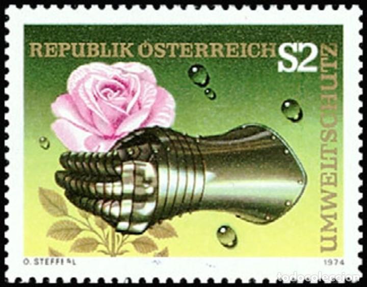 AUSTRIA 1974 - FLOR - ROSA - YVERT Nº 1297** (Sellos - Extranjero - Europa - Austria)